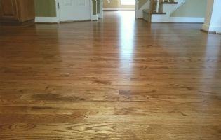 Refinished Red Oak with Early American Stain